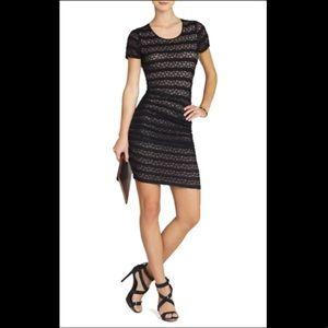 BCBGMaxAzria Lace Fitted Dress - XS